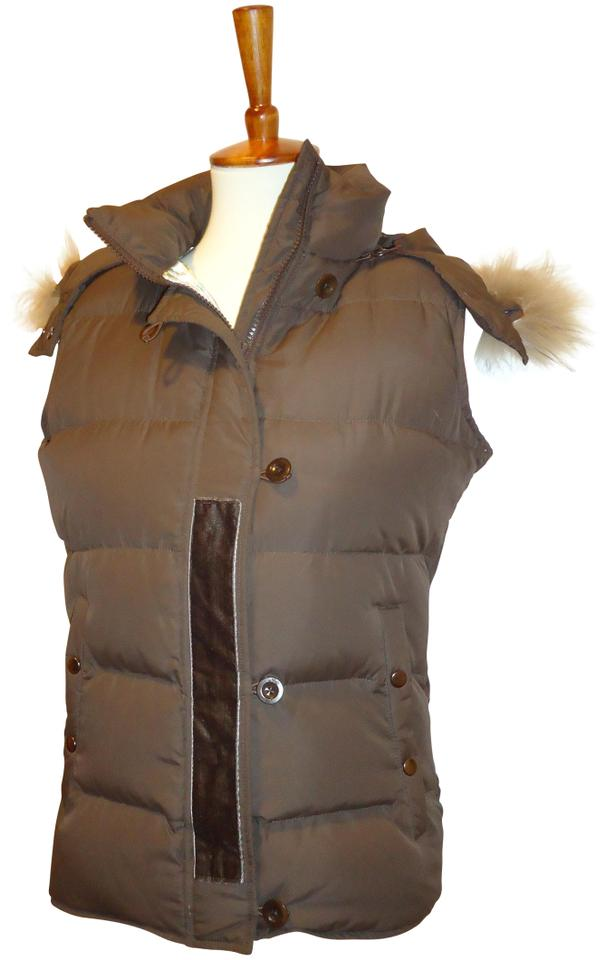50f4429052b Joie Brown Must See Really Nice Puffer Vest Sz. M Jacket Size 8 (M)