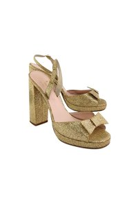 Kate Spade Sparkle Heels With Bow Gold Sandals