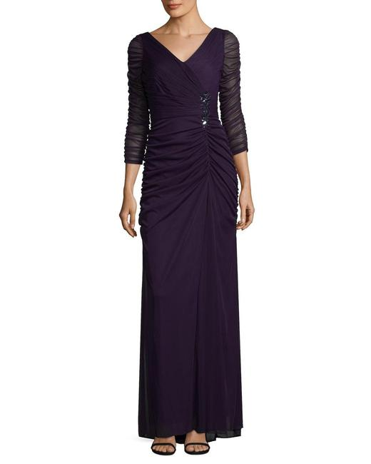 Item - Blue View Fullscreen Women's Covered Gown Ink Long Night Out Dress Size 6 (S)