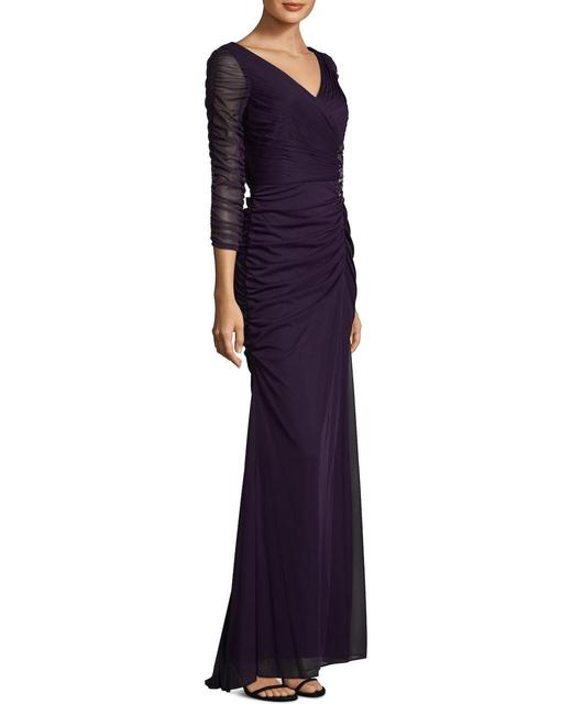 Adrianna Papell Blue View Fullscreen Women's Covered Gown Ink Long Night Out Dress Size 6 (S) Adrianna Papell Blue View Fullscreen Women's Covered Gown Ink Long Night Out Dress Size 6 (S) Image 2