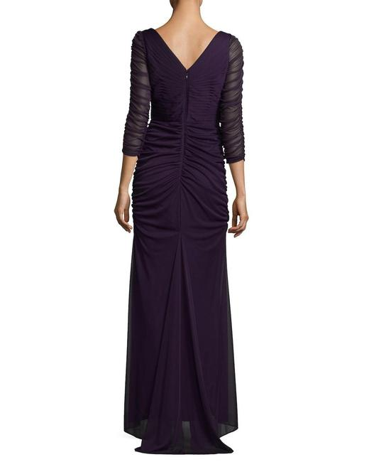 Adrianna Papell Blue View Fullscreen Women's Covered Gown Ink Long Night Out Dress Size 6 (S) Adrianna Papell Blue View Fullscreen Women's Covered Gown Ink Long Night Out Dress Size 6 (S) Image 3