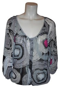 Saint Tropaz West Top grey, black, white & pink