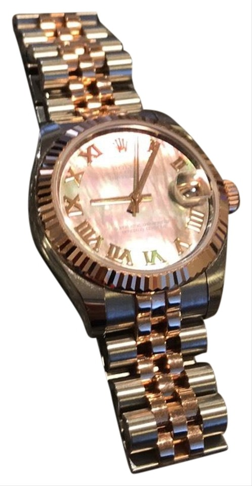 3049f08a590 Rolex Rolex DateJust Oyster Perpetual Lady 31 Automatic Pink Rose Dial Stainless  Steel and 18kt Pink ...
