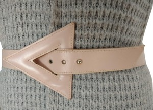 Alfred Sung Light Peach Genuine Leather Belt. Style Number 25061
