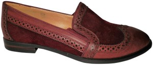 Monroe & Main Loafer Slip-on Padded Sole Like New Burgundy Flats