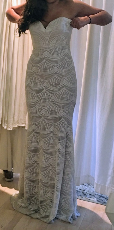 Stone cold fox ivory market gown modern wedding dress size for Stone cold fox wedding dress