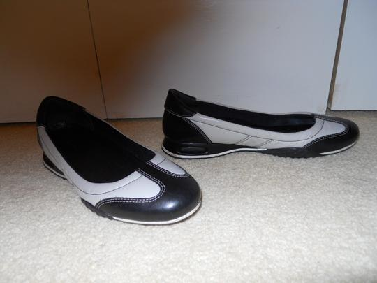 Cole Haan Leather black & light grey Flats
