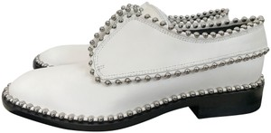 Alexander Wang Leather Studded Oxfords White Flats
