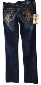 MEK Denim Straight Leg Jeans-Medium Wash
