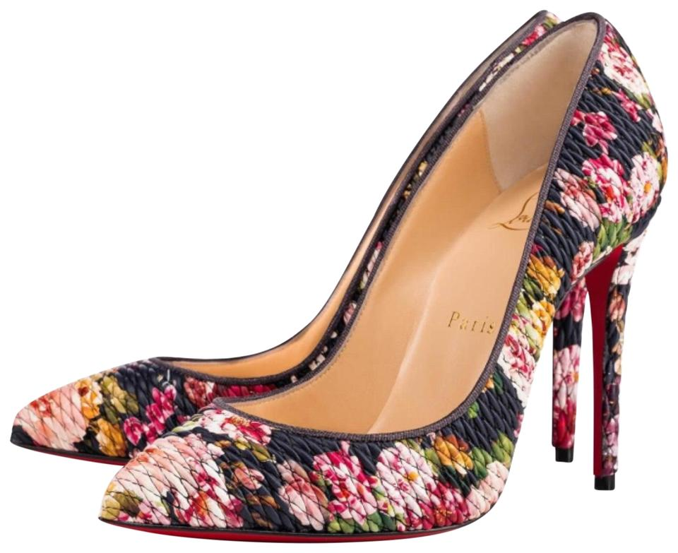 07a17266653 Christian Louboutin Black Pigalle Follies Tissu Baigneuse Floral Stiletto  Pumps