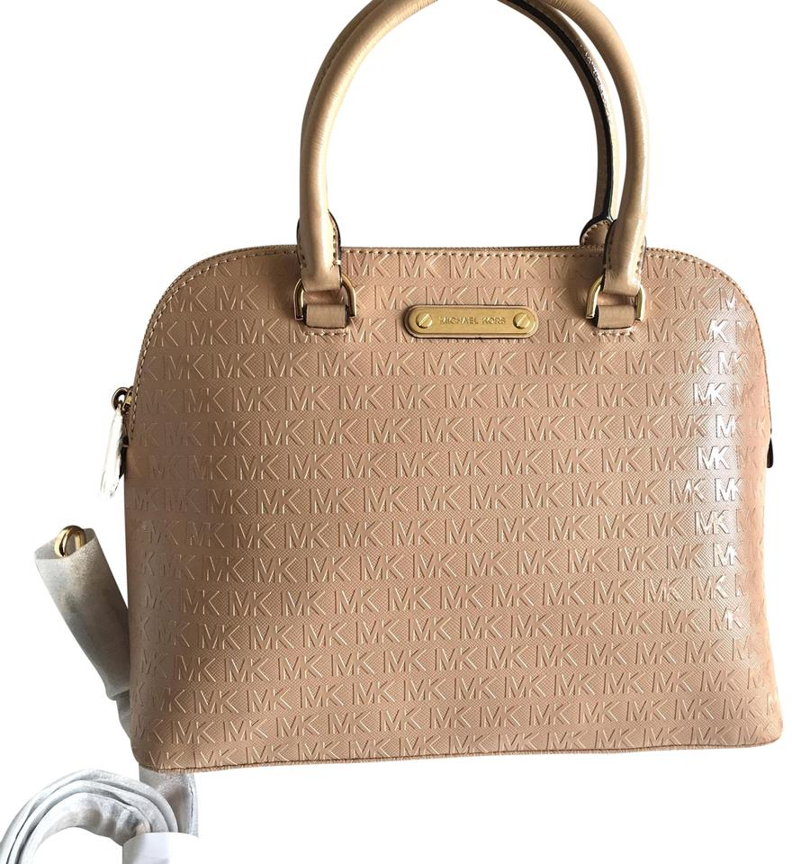 "504e1adfe0f6 Michael Kors Cindy Dome with Signature ""mk"" Logo-large Oyster Pink ..."