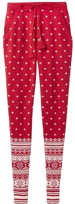 Item - Crimson Red L Fair Isle Sweater Jogger Pants Size 12 (L, 32, 33)