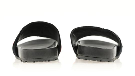 Prada Velvet Pool Slides Slides Slides Black Sandals Image 2