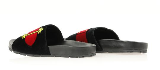 Prada Velvet Pool Slides Slides Slides Black Sandals Image 6