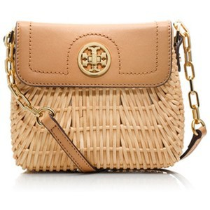 9ed87b6084b Tory Burch Rattan Lacquered Mini Natural Rattan Leather Cross Body ...