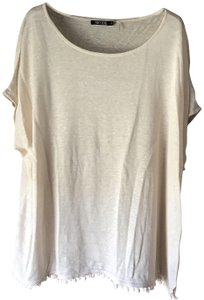 NIC+ZOE New With Tags Plus-size Ball Fringe Linen Blend Hand Wash Tunic