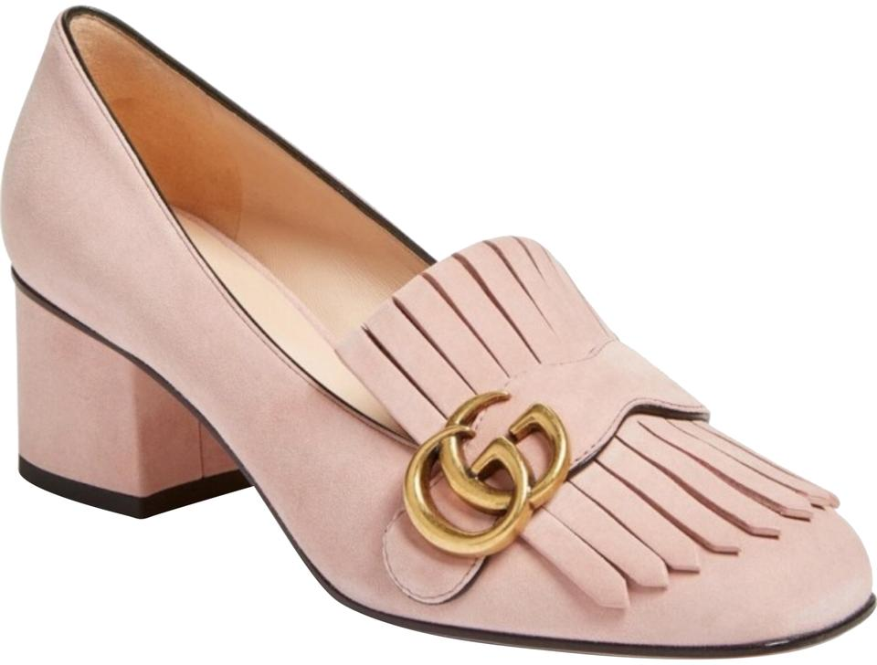 0c07dd0c0a9f2a Gucci Blush Suede Marmont Gg Loafer Pumps Size US 9 Regular (M, B ...