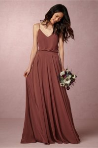 BHLDN Cinnamon Rose Chiffon Inesse By Jenny Yoo Formal Bridesmaid/Mob Dress Size 10 (M)
