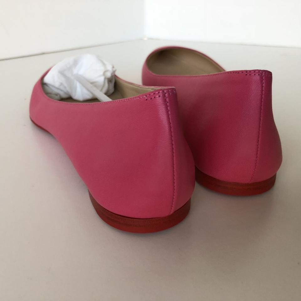 21f3086b1f7d Christian Louboutin Red Bottom Soft Leather Darling Pink Flats Image 8.  123456789