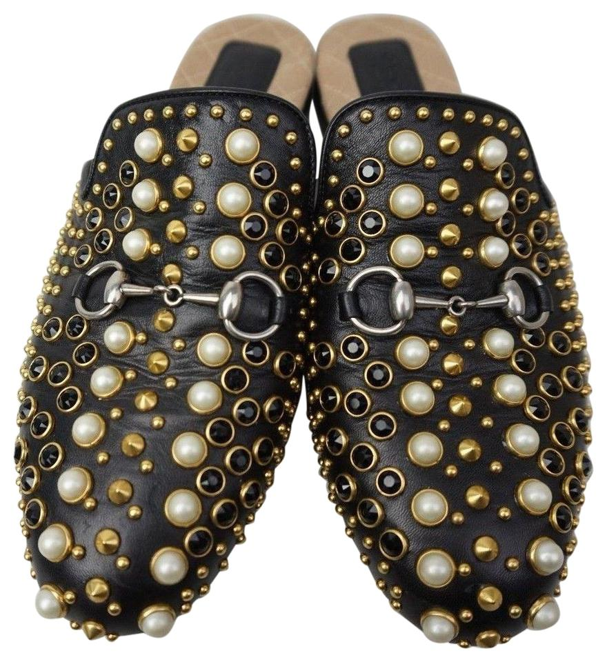 0230cb9639d Gucci Black Princetown Studded Leather Loafer Women s Mules Slides ...