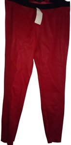 THEPERFEXT Skinny Pants Red black