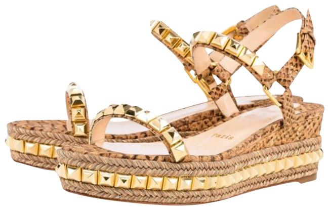 Item - Beige Cataclou Gold Ecorce Cork Sandal Flats Size EU 39 (Approx. US 9) Regular (M, B)