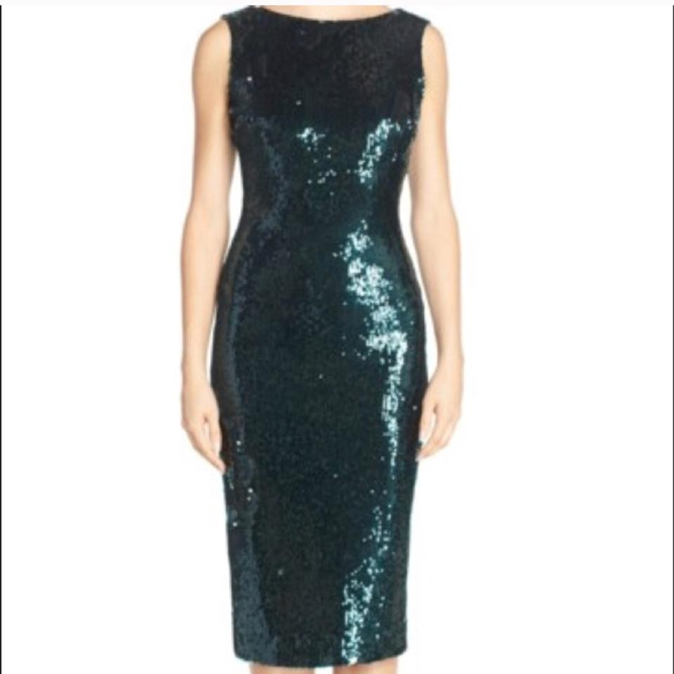 Dress the Population Dark Green Mid-length Cocktail Dress Size 6 (S ...