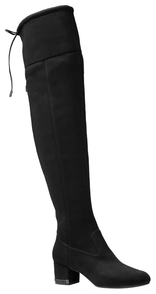 5b2072f2a43 Michael Kors Black Jamie Mid Stretch Over The Knee M Boots Booties ...