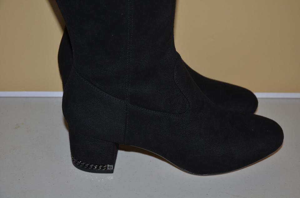 0eb432526bc Michael Kors Black Jamie Mid Stretch Over The Knee M Boots Booties ...