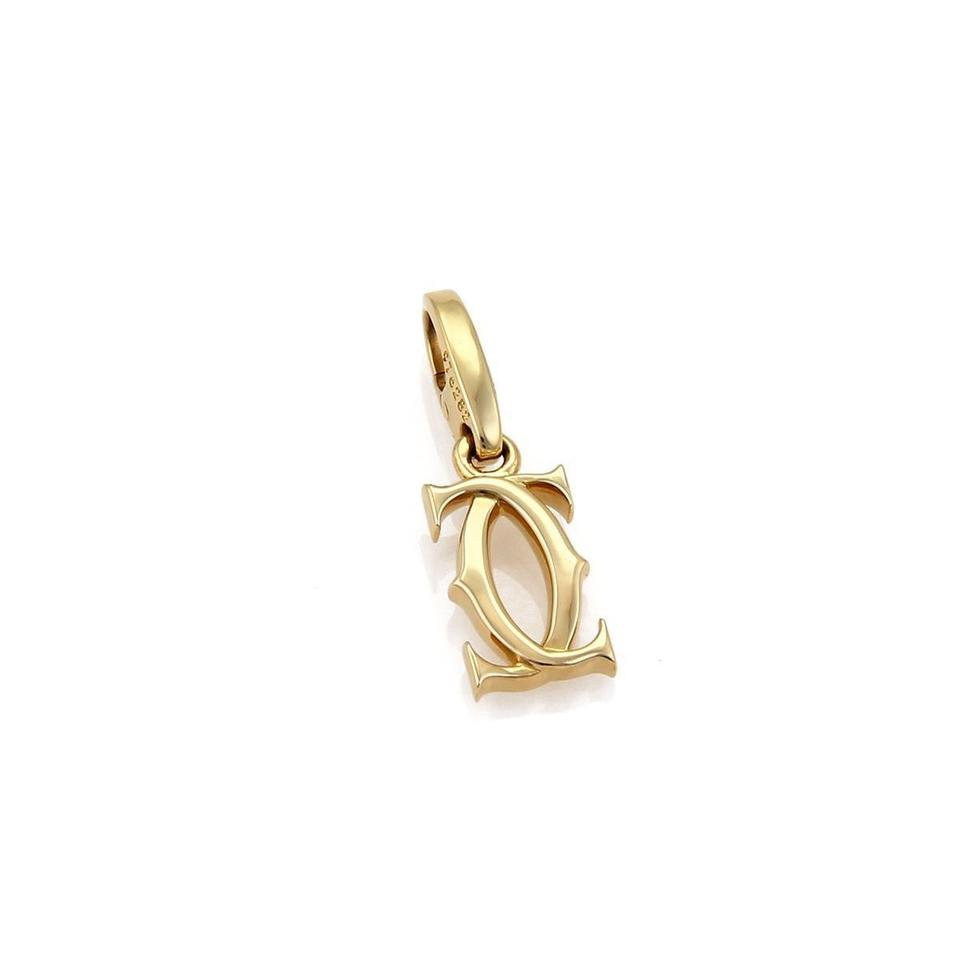 c9483c268aced Cartier 22016 - 18k Yellow Gold Double C Logo Charm