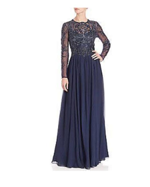 basix black label Navi Sleeve Beaded Gown Long Formal Dress Size Petite 10 (M) basix black label Navi Sleeve Beaded Gown Long Formal Dress Size Petite 10 (M) Image 1