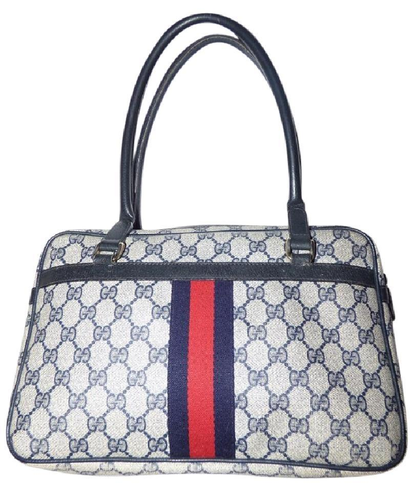 80fcc33fb Gucci Style Accessory Col Great Everyday Exterior Pockets Excellent Vintage  Satchel in shades of blue in ...