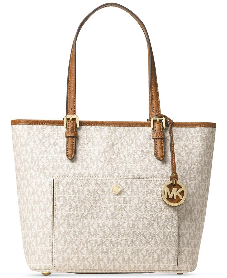 michael kors signature tote on sale up to 70 off at tradesy. Black Bedroom Furniture Sets. Home Design Ideas