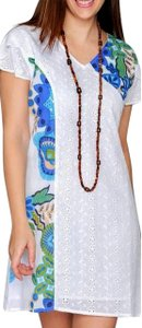 Lirome short dress White Multi Sprng Florl Summer Eyelets Embroidered on Tradesy