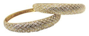 Technibond Technibond Pave' Diamond Accented Bangle Set