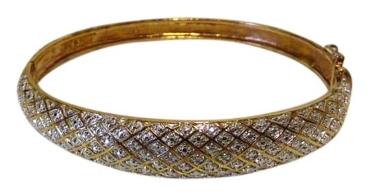 Technibond RARE Technibond Pave' Diamond Accented Bangle Set