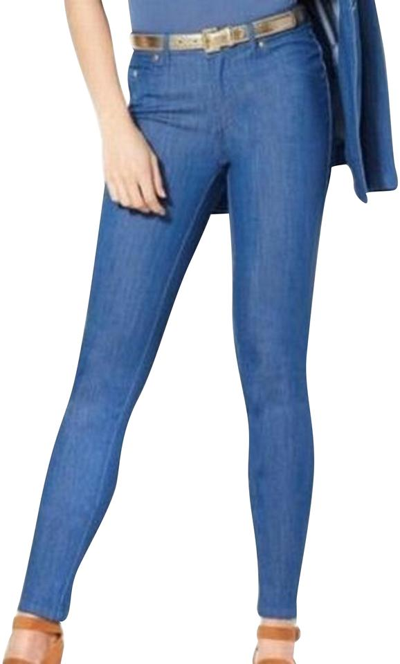 big discount wholesale outlet best wholesaler Blue Coated  Iman-new-blue-womens-size-6-denim-skinny-ankle-zip-zipper-fly-pants- Skinny  Jeans Size 29 (6, M)