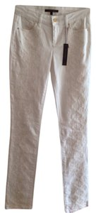 Rachel Roy Embroidered Medium Rise Straight Leg Jeans-Light Wash
