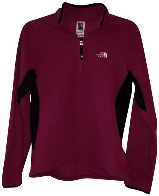 Item - Pink and Black Fleece Flight Series Pullover Activewear Outerwear Size 12 (L, 32, 33)