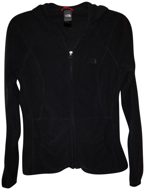 Item - Black Hooded Zip Up Activewear Outerwear Size 10 (M, 31)
