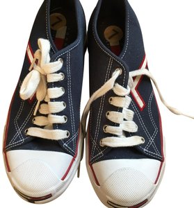 76ac582d06656 Tommy Hilfiger Blue Red White Vtg Women 7m Canvas Sneakers Colorblock Flag  90 s Sneakers