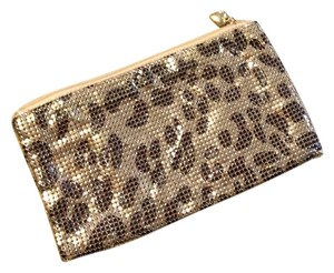 Scoop NYC Metal Mesh Leopard Night Out Clutch