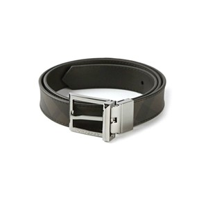 Burberry Smoked Checkwebster 30MM Reversible Buckle Belt Size 32/80