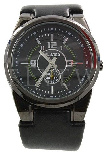 Other NEW Unlisted UL1094 Black Leather Strap Men's Watch