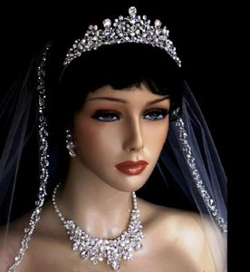 Bella Tiara Silver / Freshwater Pearls/ Crystals Elegant and Crown Tiara