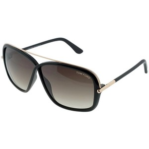 88c39fd527364 Tom Ford FT0455-01K Brenda Women s Black Frame Brown Lens Genuine Sunglasses  - item med