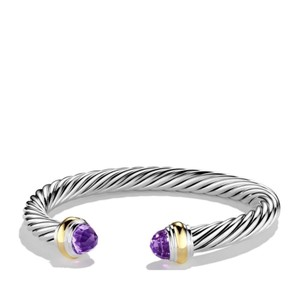 David Yurman Amethyst and Gold Color Classics Bracelet