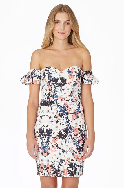 Parker short dress Floral Ruffle Strapless Spring Summer on Tradesy Image 2