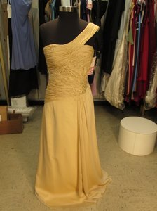 Montage Sunshine Chiffon 111916 (Mon-2) Formal Bridesmaid/Mob Dress Size 12 (L)