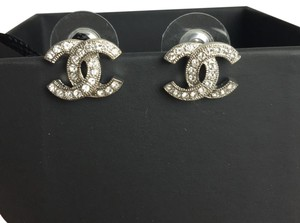 Chanel Chanel Classic Timeless Silver Stud Earrings